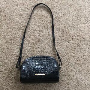 Brahmin faux alligator purse with long strap